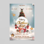 Merry Christmas Event Free PSD Flyer Template