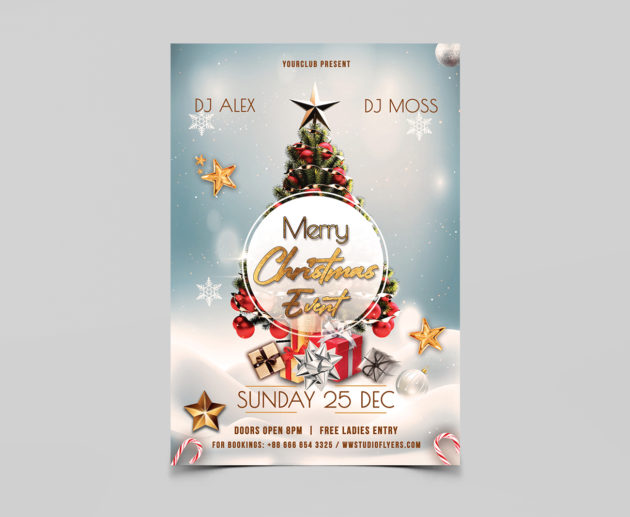 Merry Christmas Event Free PSD Flyer Templates