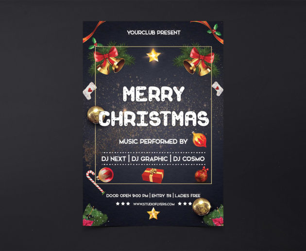 Merry Christmas Free PSD Flyer Templates