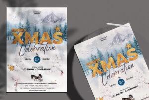 Merry XMas Celebration Free PSD Flyer Template