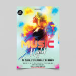 Music Night Free PSD Flyer Template