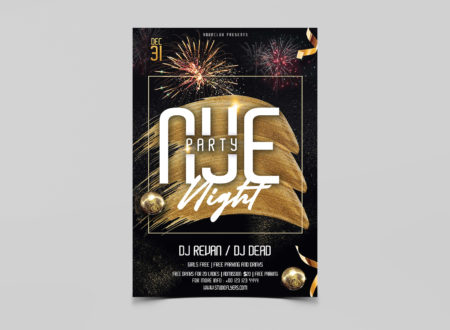 NYE Party Free PSD Flyer Templates