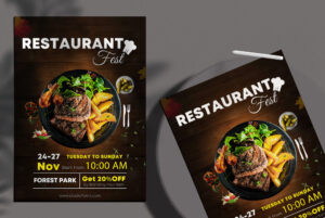 Restaurant Fest Free PSD Flyer Template