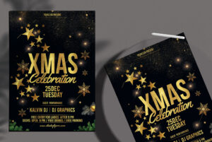 Xmas Celebration Free PSD Flyer Template