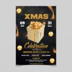 Celebration XMAS Free PSD Flyer Template