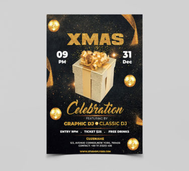 Celebration XMAS Free PSD Flyer Template