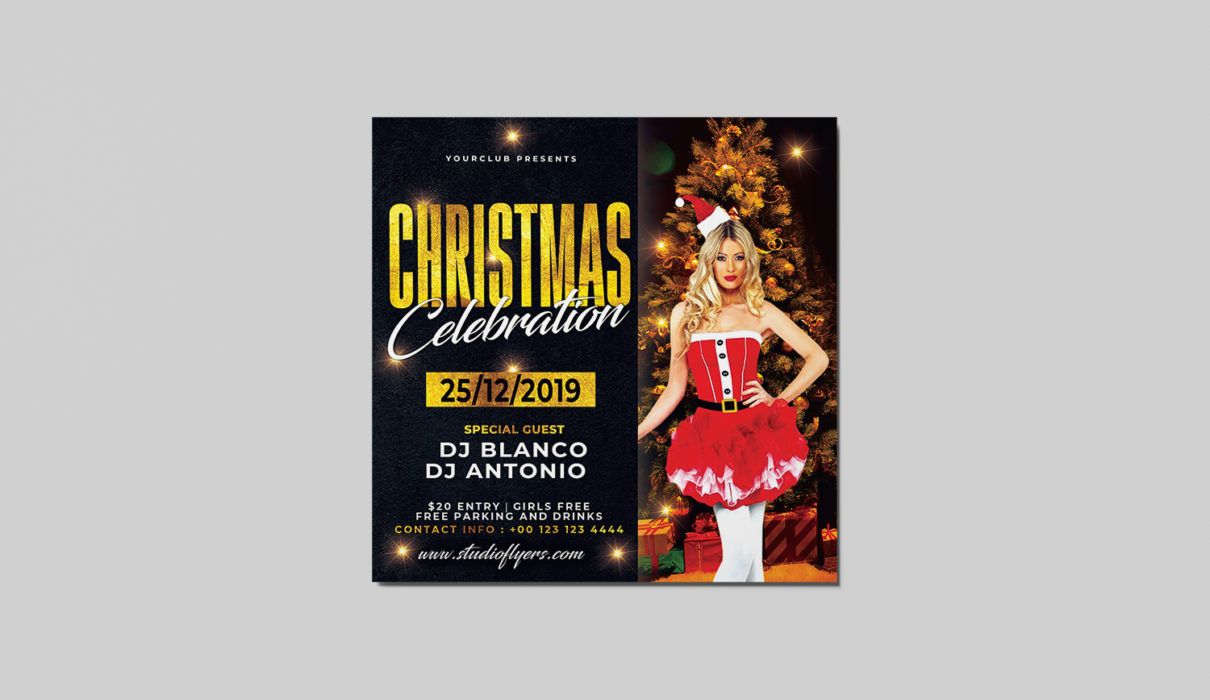 Christmas Celebration Free PSD Flyer Template