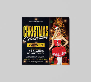 Christmas Celebration Free PSD Flyer Template