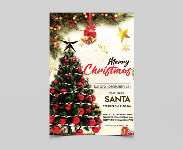 Christmas Day Free Flyer PSD Template