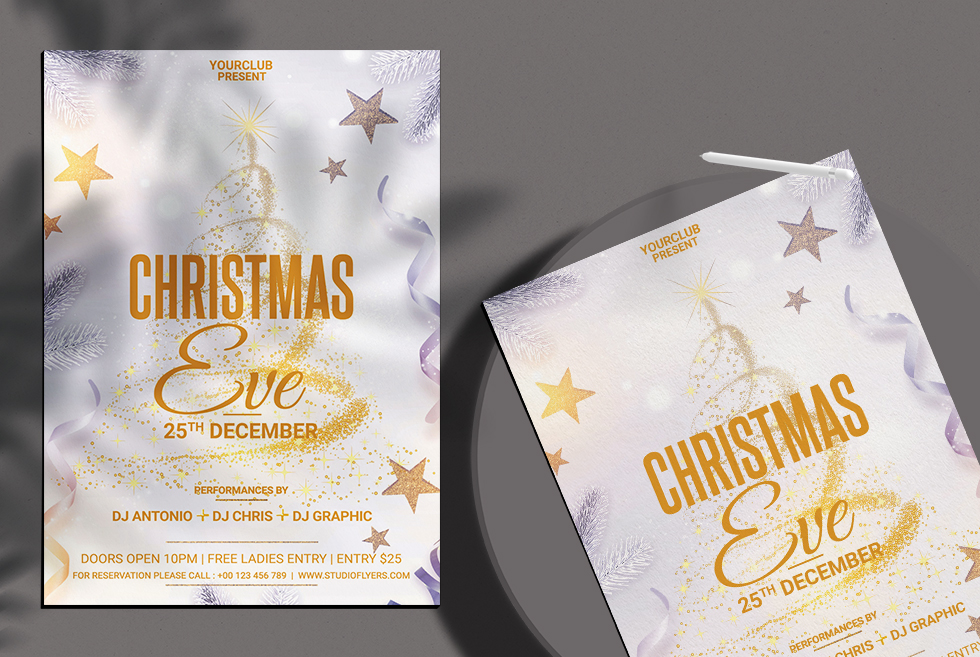 Christmas Eve Free PSD Flyer Template