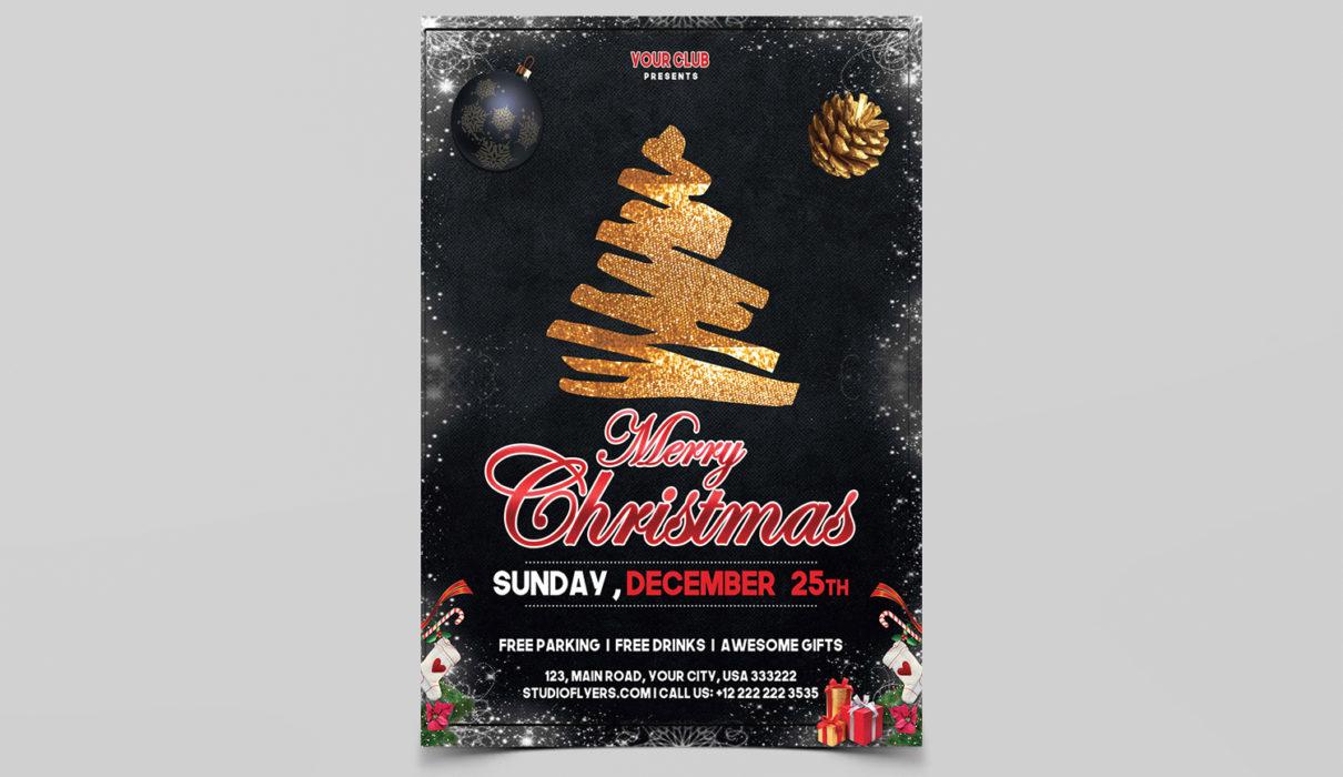 Christmas Event Flyer PSD Templates