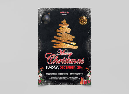 Christmas Event Flyer PSD Templates