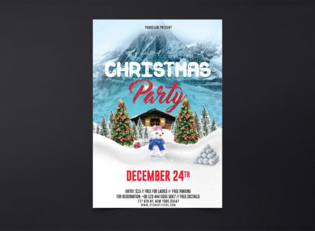 Christmas Party Freebie PSD Flyers