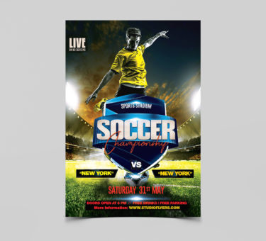 Soccer Championship Free PSD Flyer Template