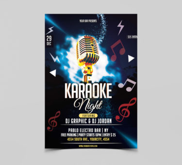 Karaoke Night Free PSD Flyer Template