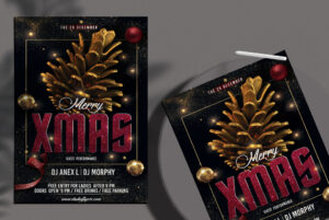 Merry XMAS Night Free PSD Flyer Template