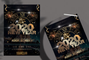 Happy New Year Eve 2020 Free PSD Flyer Template