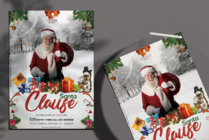 Santa Clause Free PSD Flyer Template