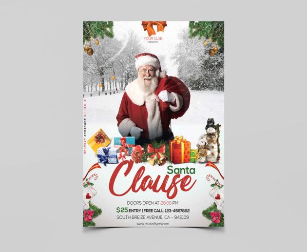 Santa Clause Free PSD Flyer Templates