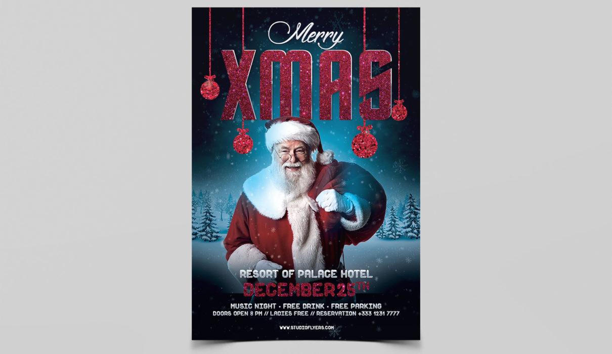 Santa Xmas Free Psd Flyer Template Studioflyers Com
