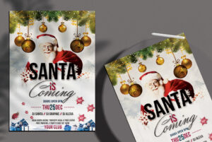 Santa is Coming Free PSD Flyer Template