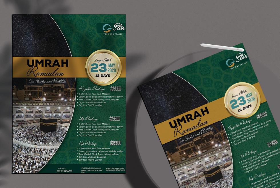 Umrah Ramadan Free PSD Flyer Template