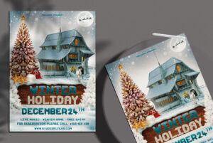 Winter Holiday Free PSD Flyer Template
