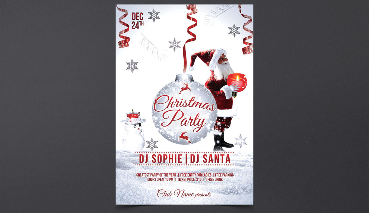 XMAS Event Free PSD Flyer Template