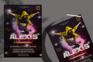 Alexis Dance Party Free PSD Flyer Template