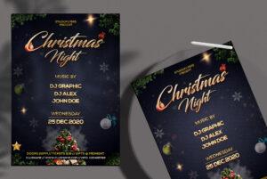 Christmas Night Free PSD Flyer Template