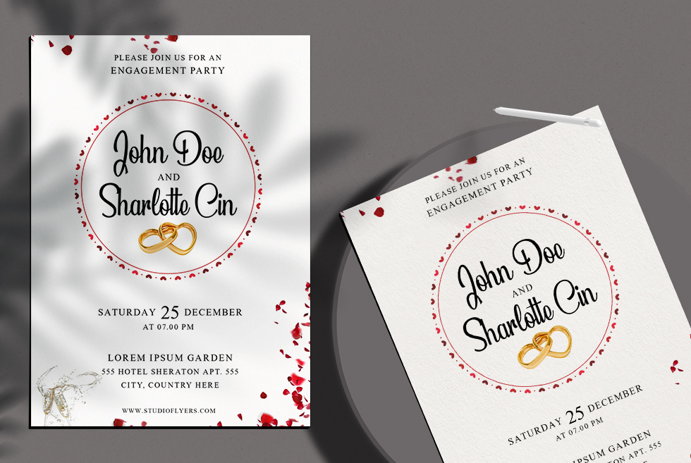 Clean Invitation PSD Free Template