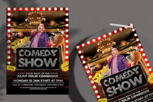 Comedy Show Free PSD Flyer Template