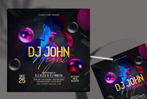 DJ John Night Free PSD Flyer Template