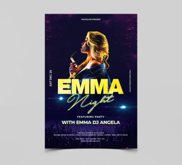 Emma Night Free PSD Flyer Template