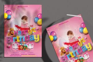 Happy Birthday Free PSD Flyer Template