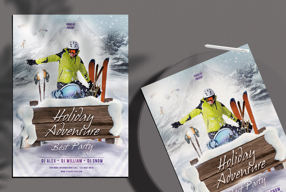 Holiday Adventure Free PSD Flyer Template