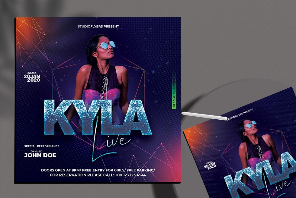 Kyla Live Performance Free PSD Flyer Template