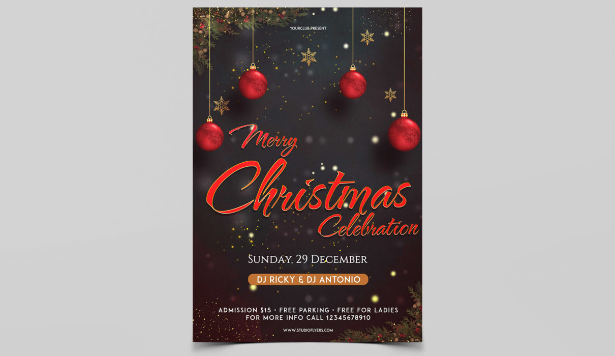 Merry XMAS Event Free PSD Flyer Template
