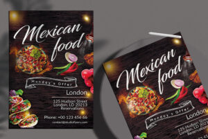 Mexican Food Free PSD Flyer Template