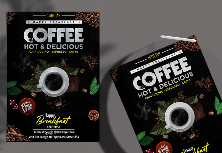 Coffe Delicious Free PSD Flyer Template