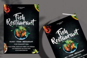 Fish Restaurant Free PSD Flyer Template