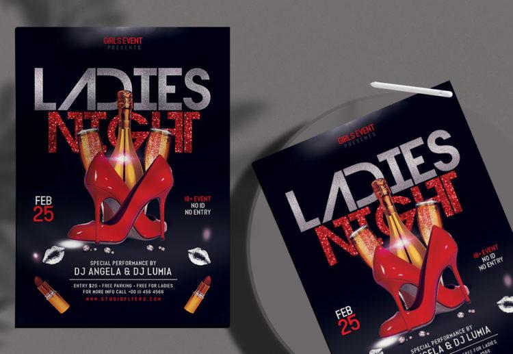 Ladies Night Free Flyer PSD Template