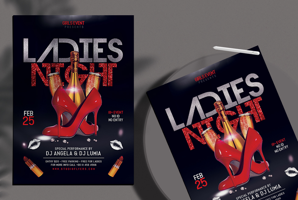 Ladies Night Free Flyer PSD Template