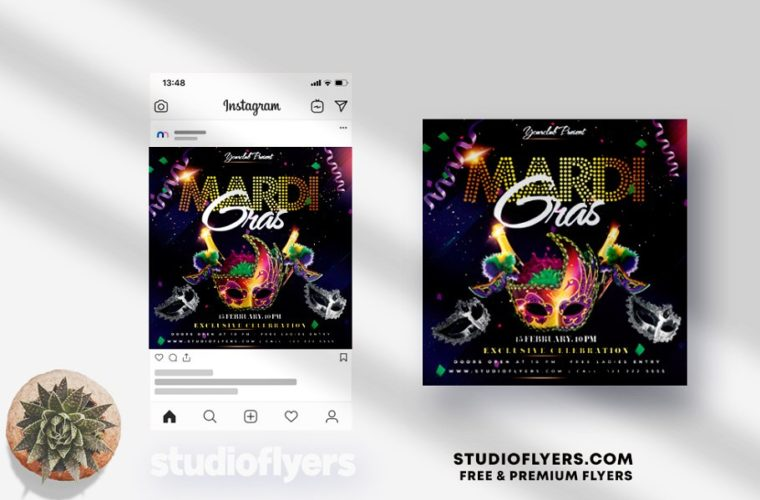 Mardi Gras - Event PSD Flyer