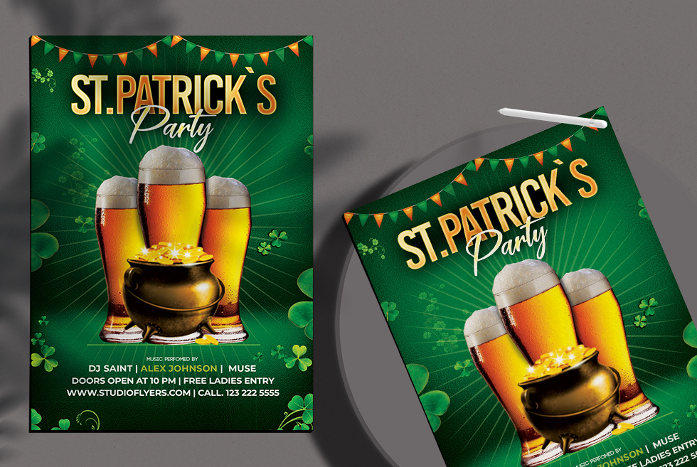 Saint Patrick`s Free Psd Flyer Template
