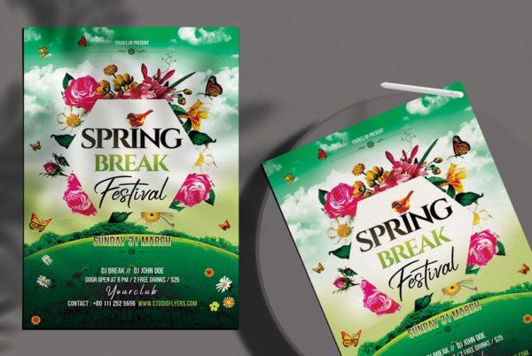 Spring Break Festival - PSD Flyer