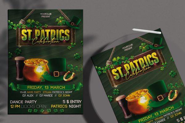 St Patricks Day - Flyer PSD Template