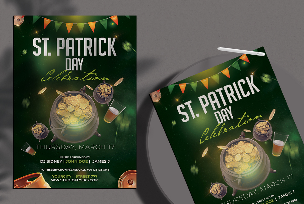 St Patrick's Day Free PSD Flyer Template