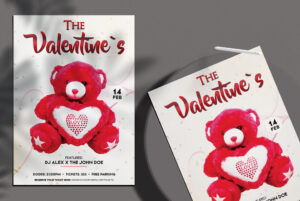 The Valentines Event Free PSD Flyer Template