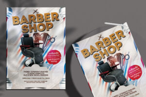 Barbershop Free PSD Flyer Template